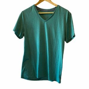 RW&CO Essentials Fitted Teal V Neck Tee Shirt M